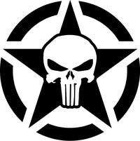 Punisher Star Decal / Sticker 117