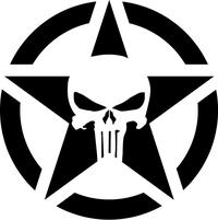 Punisher Star Decal / Sticker 118