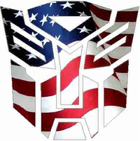 American Flag Autobot 06 Decal / Sticker