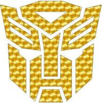 Gold Engine Turn Autobot 06 Decal / Sticker