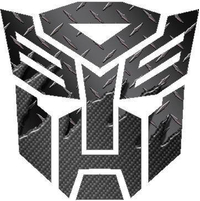 Black Carbon Plate Autobot Decal / Sticker