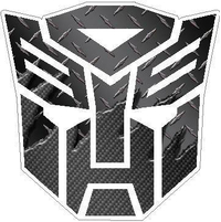 Transformers Autobot Black Carbon Plate 3 Decal / Sticker