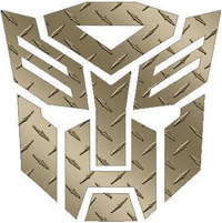 Transformers Autobot Gold Diamond Plate Decal / Sticker