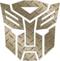 Transformers Autobot Gold Diamond Plate Decal / Sticker