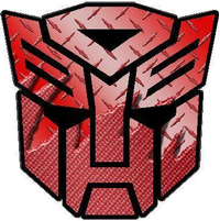 Transformers Autobot Red Carbon Plate Decal / Sticker