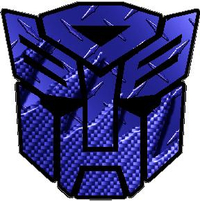 Dark Blue Carbon Plate Autobot Decal / Sticker 06