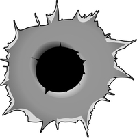 Bullet Hole Decal / Sticker