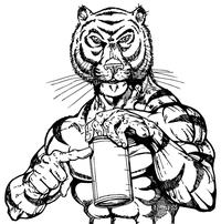 Tigers Torso Mascot Decal / Sticker 2