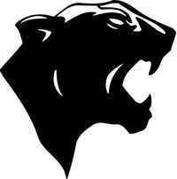 Cougars / Panthers Mascot Decal / Sticker 01
