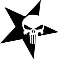 Punisher Star Decal / Sticker 115