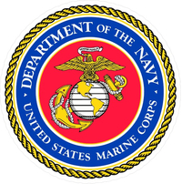 Department of the Navy USMC Decal / Sticker 10