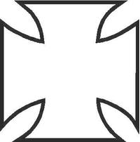Maltese Cross Decal / Sticker 02