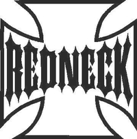 Redneck Maltese Cross Decal / Sticker 01