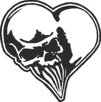 Skull Heart Decal / Sticker