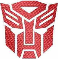 Red Carbon Fiber Autobot Decal / Sticker 06