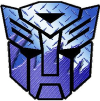 Transformers Autobot Light Blue Carbon Plate Decal / Sticker