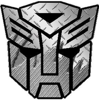 Transformers Autobot Silver Carbon Plate Decal / Sticker