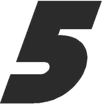 5 Race Number Bahamas Heavy Font Decal / Sticker