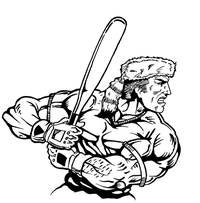 Baseball Frontiersman Mascot Decal / Sticker 8