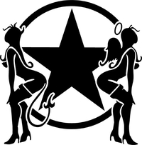 Angel and Devil Star Decal / Sticker 06