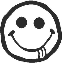 Happy Face Tongue Decal / Sticker 06
