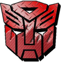 Transformers Autobot Red Carbon Plate  Decal / Sticker 24
