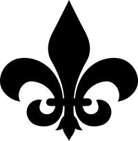 Fleur-De-Lis Decal / Sticker 02