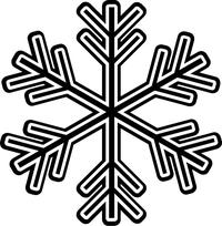 Snowflake Decal / Sticker 08