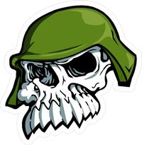 Metal Mulisha Skull Decal / Sticker 03