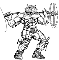 Weightlifting Leopards Mascot Decal / Sticker 4