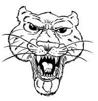 Cougars / Panthers Mascot Decal / Sticker 2
