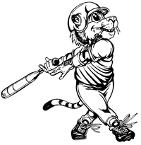 Baseball Tigers Mascot Decal / Sticker 5