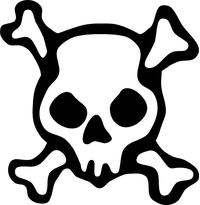 Skull and Cross Bones Decal / Sticker 18