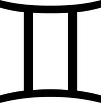 Gemini Zodiac Symbol Decal / Sticker 01