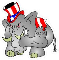 Republican Elephant GOP Decal / Sticker 02