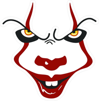Pennywise The IT Clown Decal / Sticker 07