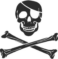 Skull and Cross Bones Decal / Sticker 03