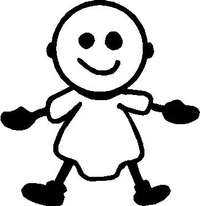 Baby Stick Figure Decal / Sticker 03