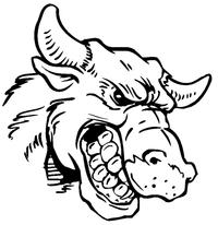 Bull Mascot Decal / Sticker 5