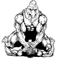 Wrestling Gamecocks Mascot Decal / Sticker 1