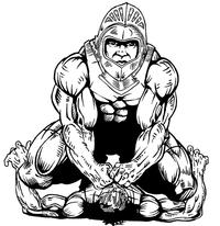 Wrestling Knights Mascot Decal / Sticker 1