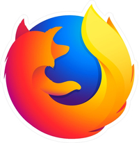 Firefox Decal / Sticker 03