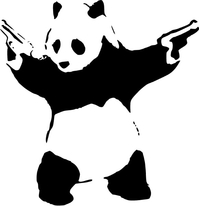 Bansky Panda Decal / Sticker 01