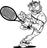 Tigers Tennis Mascot Decal / Sticker