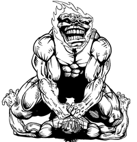 Wrestling Comets Mascot Decal / Sticker 1