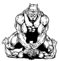 Wrestling Devils Mascot Decal / Sticker 1