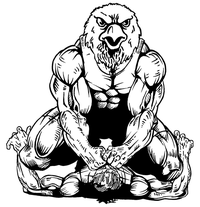 Wrestling Eagles Mascot Decal / Sticker 1