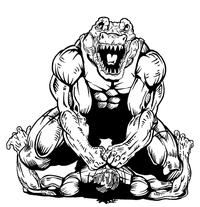 Wrestling Gators Mascot Decal / Sticker 1