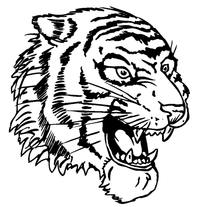 Tigers Mascot Decal / Sticker 6
