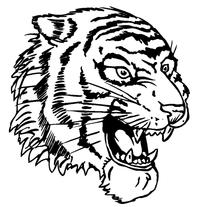 Tigers Mascot Decal / Sticker 6